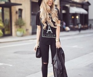 fashion, black, and clothing image