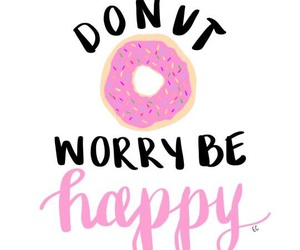 donuts, quote, and happy image