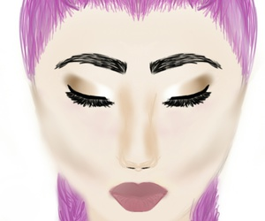 drawing, glam, and makeup image