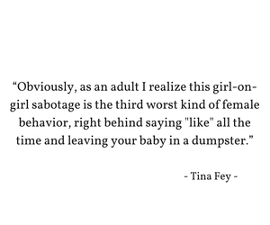 quote, Tina Fey, and women image
