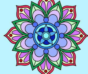 color, funny, and mandalas image