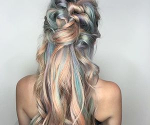 hairstyle, hairstyles, and rose gold image