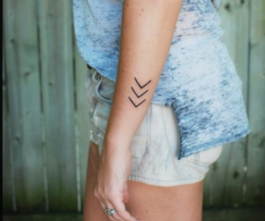 arrows, tattoo, and girls image