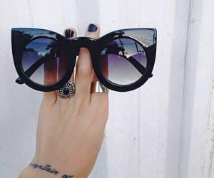 sunglasses, fashion, and black image