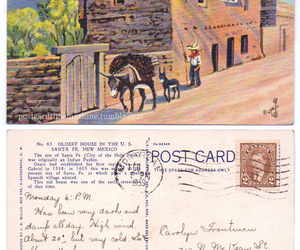 new mexico and vintage postcard image