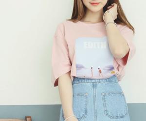 pink, kfashion, and moda image