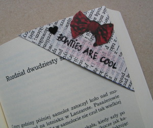 book, bookmark, and bowtie image