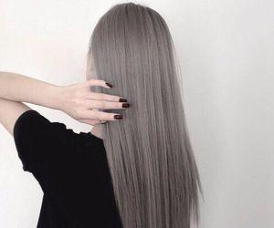 hair, grey, and black image