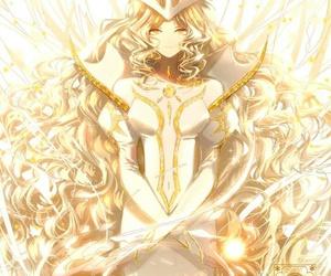 card, sakura, and the light image