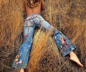 hippie and jeans image