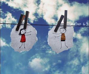 cuple, hug, and sky image