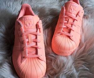 shoes, adidas, and orange image