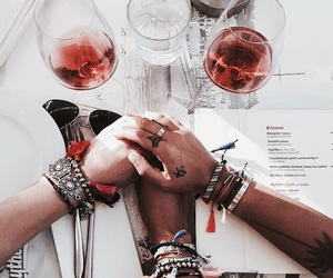 drink, red, and friends image