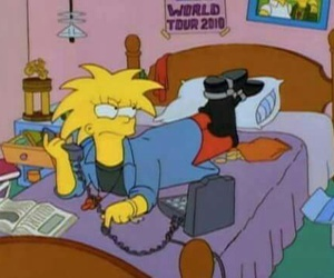 grunge, the simpsons, and simpsons image
