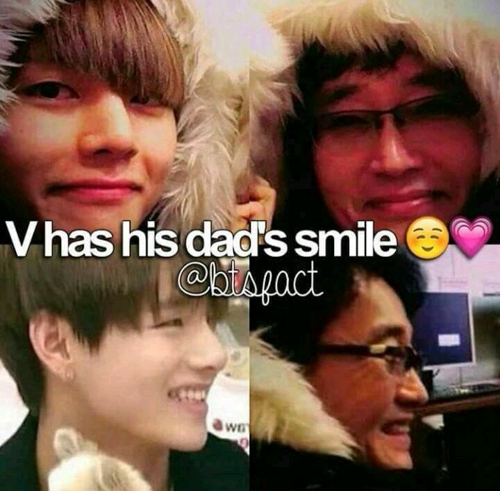 Taehyung has his father's smile :) on We Heart It