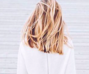 short, blond, and hair image