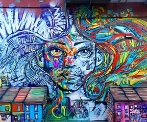 Brooklyn, mural, and colors image