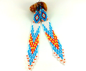 etsy, ethnic pattern, and blue earrings image