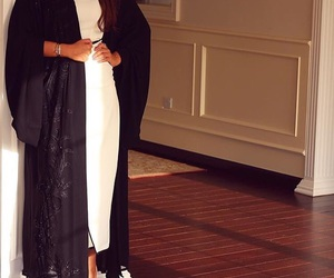 black, heels, and white image