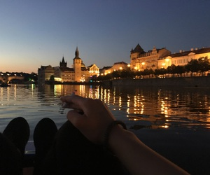 boat, chill, and city image