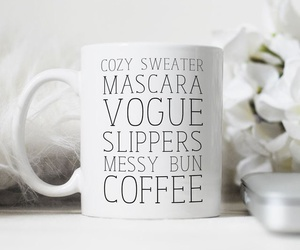 black & white, coffee, and gift image