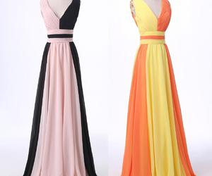 colorful, rainbow, and prom gown image