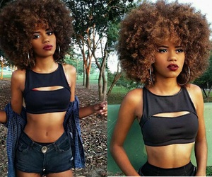 Afro, woman, and beautiful image
