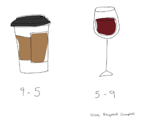 coffee, funny, and wine image