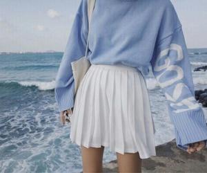 blue, skirt, and tumblr image