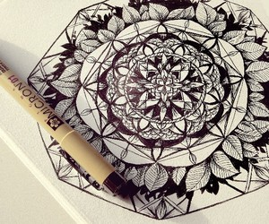 beautiful, draw, and flowers image