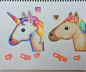 draw, unicorns, and instagram image