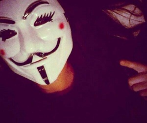 anonymous girl and haïr image