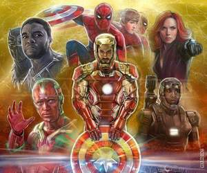 iron man, Marvel, and captain america image