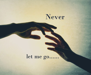 never, love, and go image
