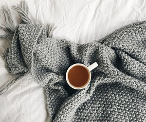 bed, coffe, and cold image