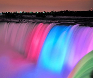 waterfall, colors, and water image