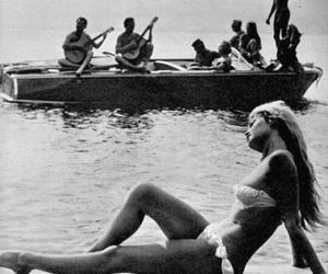 beach, boat, and brigitte bardot image