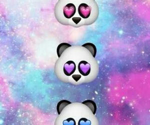 panda, galaxy, and wallpaper image