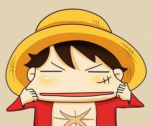 one piece, luffy, and monkey d. luffy image