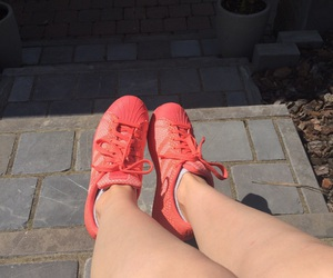 adidas, pink, and summer image