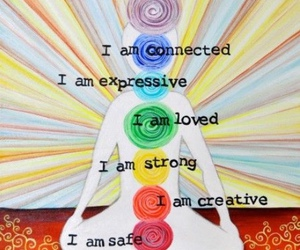 chakras, divine, and safe image