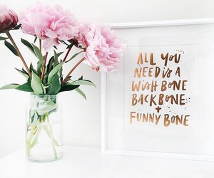 flowers, quote, and peonies image