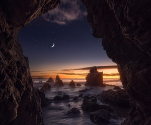 moon, nature, and stars image