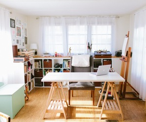 atelier, interiors, and table image