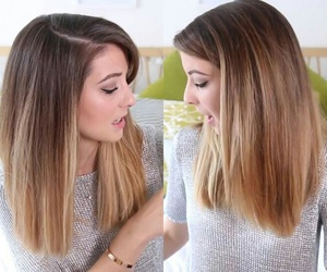zoella, ombre, and ombre hair image