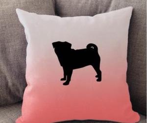 cushion, pug life, and throw pillow image