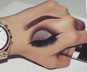 makeup, art, and eye image