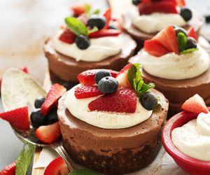 dessert, food, and strawberry image