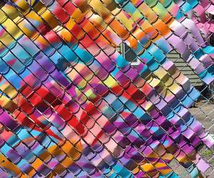 art, color, and fence image