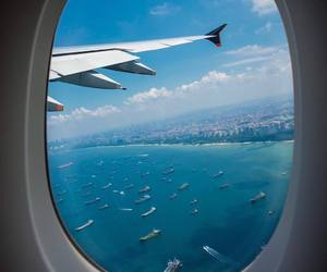 travel, plane, and sea image